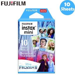 Image 2 - 10 100 sheets Fujifilm Instax Mini Film Instax Mini 11 8 9 Blue Frozen Film For Fuji Mini 7s 25 26 70 90 Instant Camera SP 1 2