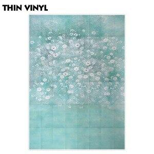 Image 3 - Allenjoy wiosna malarstwo fotografia tło niebieskie jezioro kwiat biały zdjęcie tło noworodka photocall winylu photophone