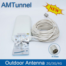 GSM antenna booster 3G 4G LTE Antenna 20dBi 3G external antenna with 10m cable 698 2700MHz for 2G 3G 4G celluar signal repeater 700 2700mhz lpda outdoor antenna panel indoor antenna 15 meter coxial cable for 2g 3g 4g mobile signal booster