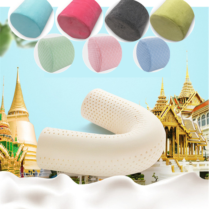 90X18X18CM Super Soft Thai Latex Cylindrical Long Pillow Pregnant Women Sleeping Pillow Clip Leg Pillow Pregnancy Side Sleepers