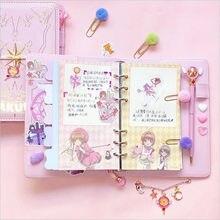 Carnet de notes Cosplay rechargeable CardCaptor Sakura, rose Techo, carnet de notes classeur, accessoire cadeau, Anime