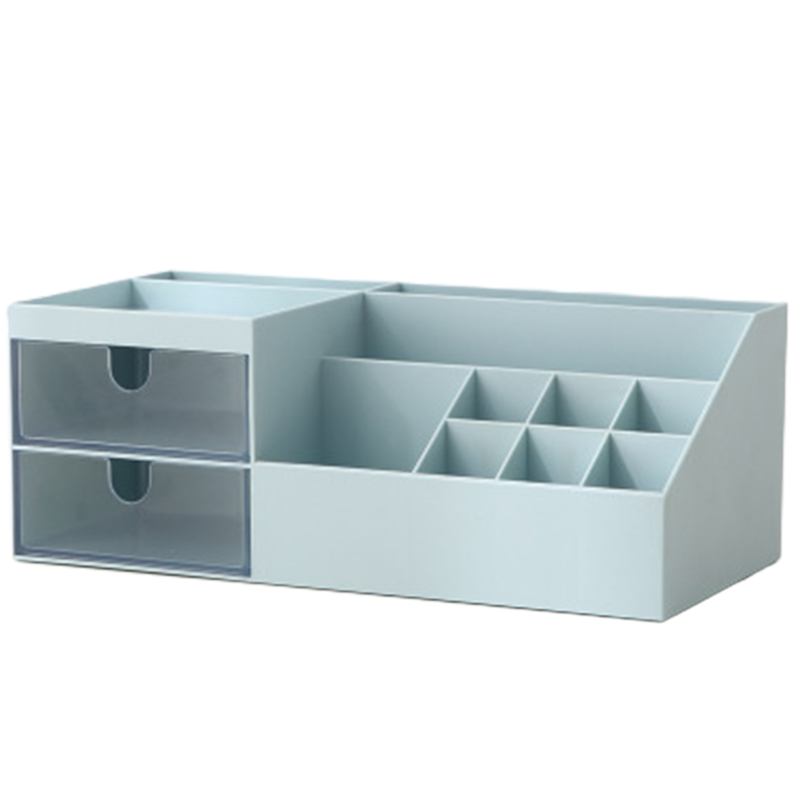 Desktop Storage Box With Compartments Drawer Style Space-Saving Case Organizer Container For Make Up