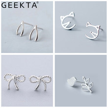 Cute Cartoon Gatto Viso Bowknot Uccello Ear Studs Non Allergica Mini Piercing Piccolo Orecchino Piccolo Orecchio Gioielli per Le Donne Ragazze Regalo(China)