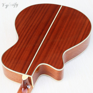 Image 4 - orange color Flamenco guitar thin body classic guitar cutway design high gloss finish 39 inch with EQ tuner function