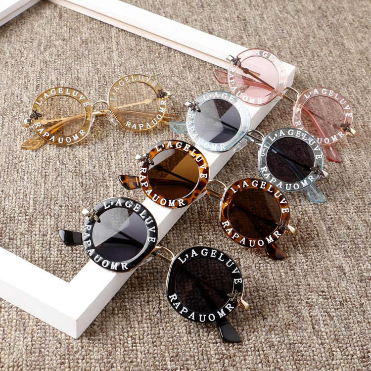 New Infant Kids Baby Girls Boys Fashion Sunglasses Letter Solid Hot Sun Glasses 7 Colors