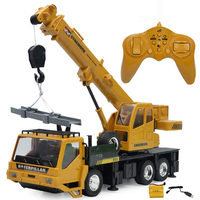 RC hoist Crane model Engineering car Toys for children Birthday Xmas good gift brinquedos Remote control freight elevator