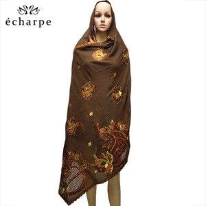 Image 2 - New African Scarf Muslim Hijab Jersey Scarf Soft Headscarf foulard femme musulman Islam Clothing Arab Wrap Head Scarves