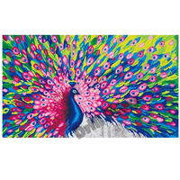5D Diy Diamond Painting Embroidery Pattern Colorful Oil Peacock 3d Cross Stitch Kits Drill Wall Sticker Home Decorations