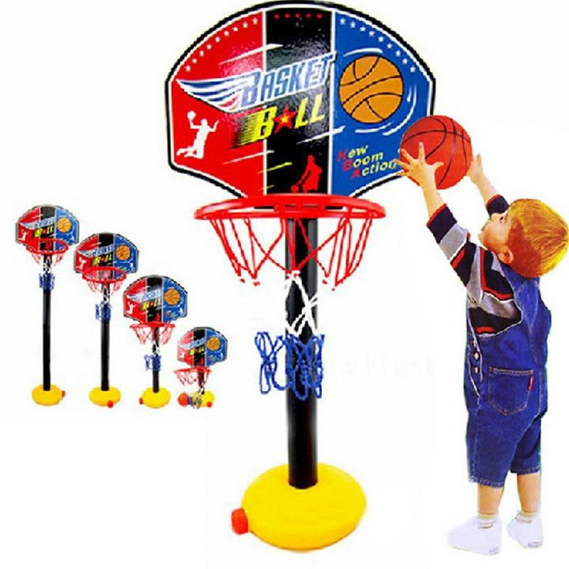 Children Basketball Stand Portable Basket Rack Indoor Outdoor  Plastic Kids Sport Toys Shooting Rack Adjustable Basketball Toys