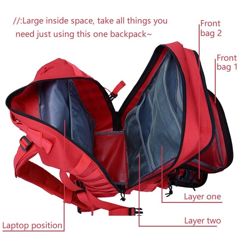 Molle Backpack Tourist Waterproof Rucksack Military Mochila Rain-Cover Tatica Travel