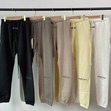 20ss sweatpants essentials calças de nevoeiro corredores kanye west jerry lorenzo solto ovesize calças de algodão hip hop