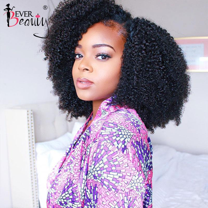4B 4C Afro Kinky Curly Wigs For Black Women U Part Wig Human Hair 360 Lace Frontal Wig Lace Front Human Hair Wigs Ever Beauty