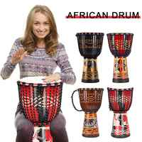 8 Inch Beautiful African Djembe Drum Colorful Cloth Art Barrel Skin For Children Hand Drum Music Musical Instrument