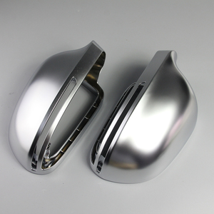 Image 2 - Car Mirror Cover For Audi B8 A3 A4 A5 A6 S4 RS4 S6 RS6 1 Pair of Matte Chrome Rearview Mirror Cover Protection Cap Car Styling