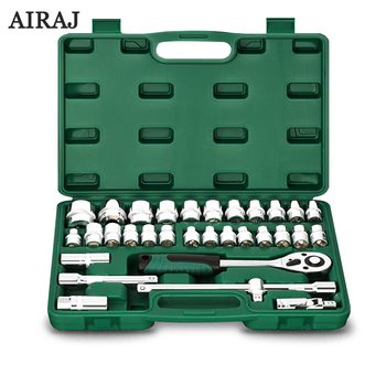 цена на AIRAJ 32/37/53 Pcs Socket Wrench Set Auto Repair Car Motorcycle With Hardware Portfolio Tools Ratchet Wrench Set Auto Repair Kit