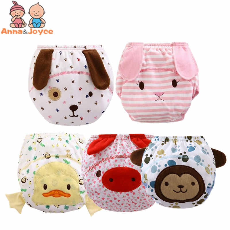 2Pcs /lot  New  New Reusable Baby Infant Nappy Cloth Diapers Soft Cotton Baby Nappy TRX0025