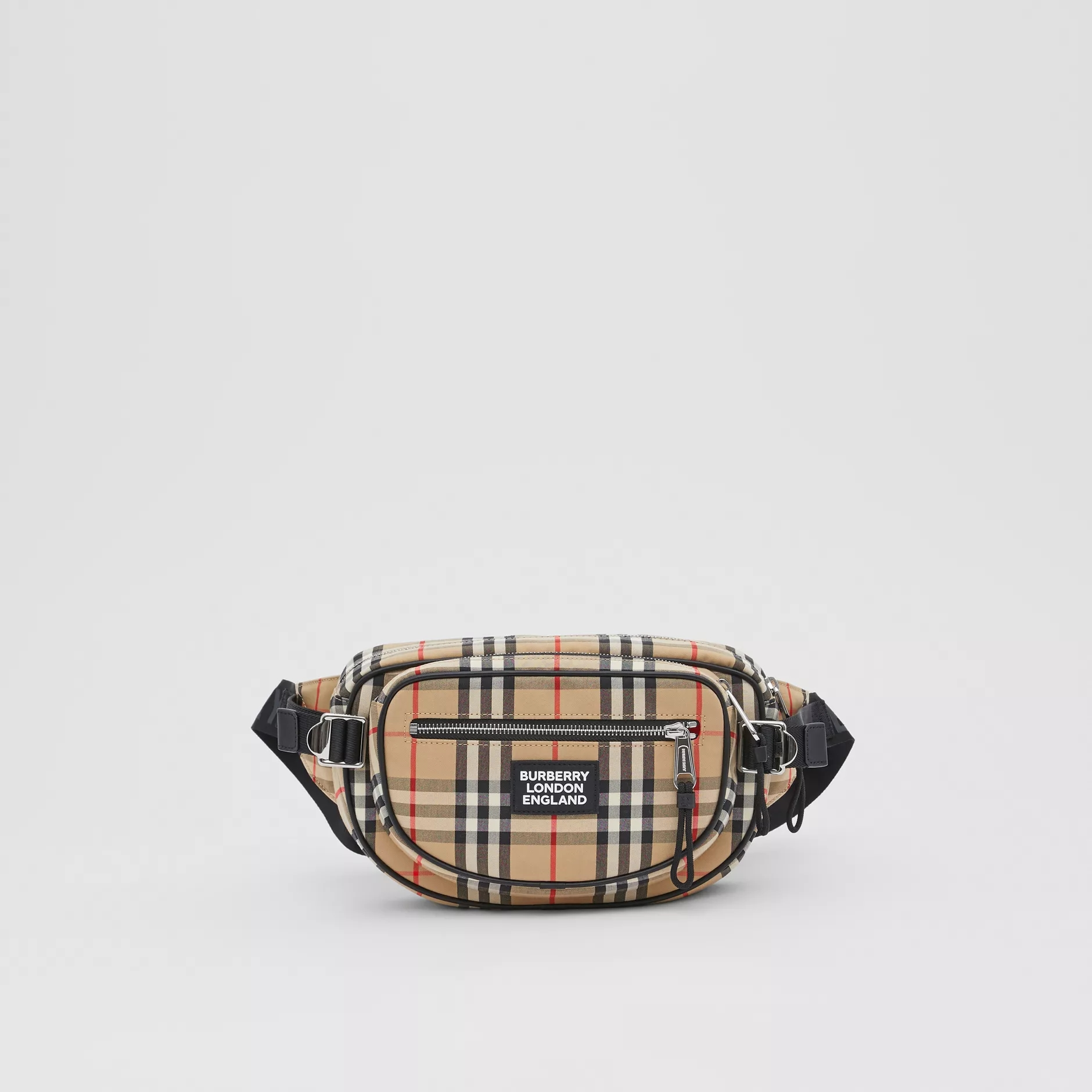 Burberry Medium Vintage Check Cotton Cannon Bum Bag For Men Pack Travel Belt Purse Shoulder Bags Tote Waist Bag 80230341