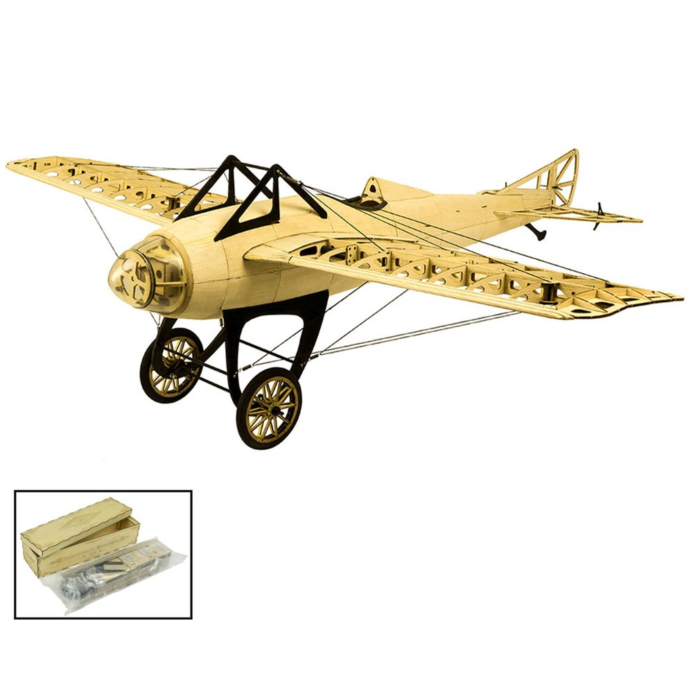 EP D.M Balsa Wood Training Plane 1.0M Wingspan Biplane RC Airplane Aircraft Model Toys DIY KIT/PNP for Kid image