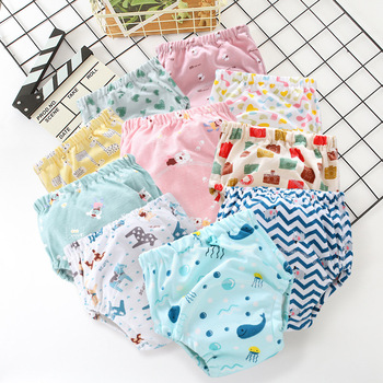 Washable reusable baby ecological diapers tetra pocket cloth diaper cover Muslin pul bebe Panties for potty training pants nappy jinobaby bamboo aio diapers heavy wetter potty training pants for babies