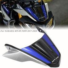 Para yamaha MT-09 mt09 fz09 acessórios da motocicleta frente windshield windscreen deflector de vento fluxo ar 2017 2018 2019 2020 mt 09