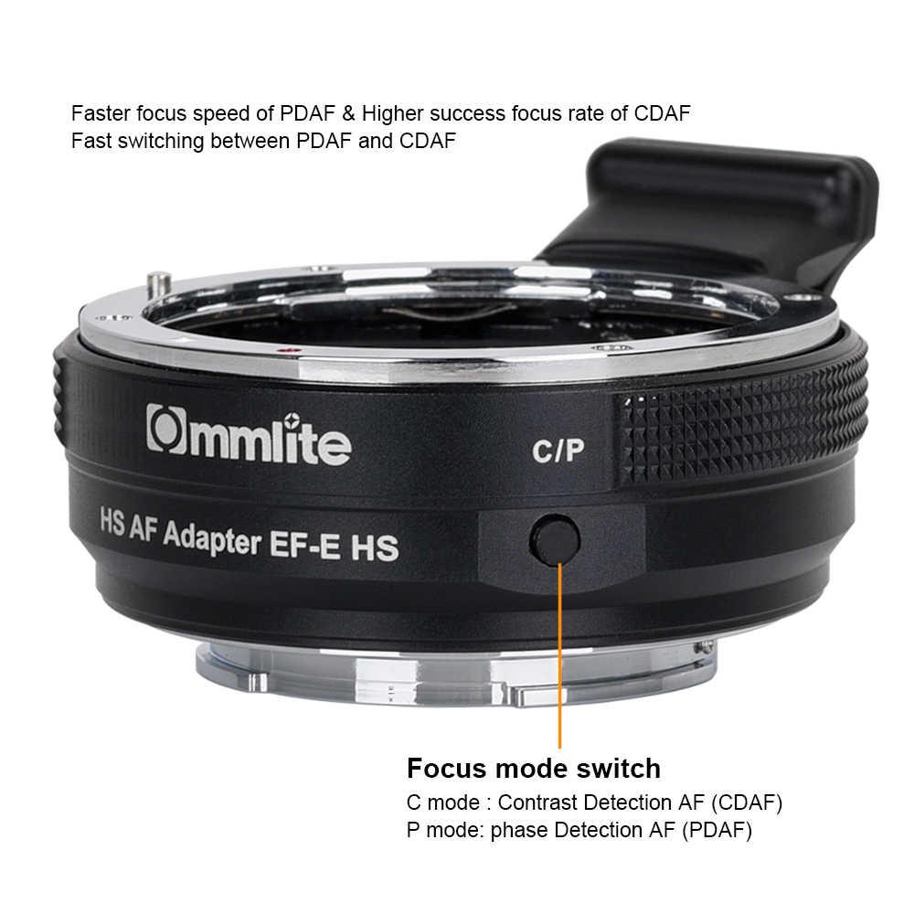 Commlite CM-EF-E HS adaptateur d'objectif de mise au point automatique plus rapide pour objectif Canon EF/EF-S pour appareil photo Sony e-mount A9 A7RIII A7 A6000 A6300 A6500