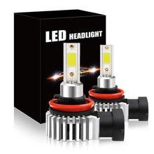 2 lampadas carro canbus 120000lm 6000k branco h1 h7 h8 h11 9005 h10 9006/hb4 9012 alto/baixo feixe carro mini farol led lâmpadas farol farol farol