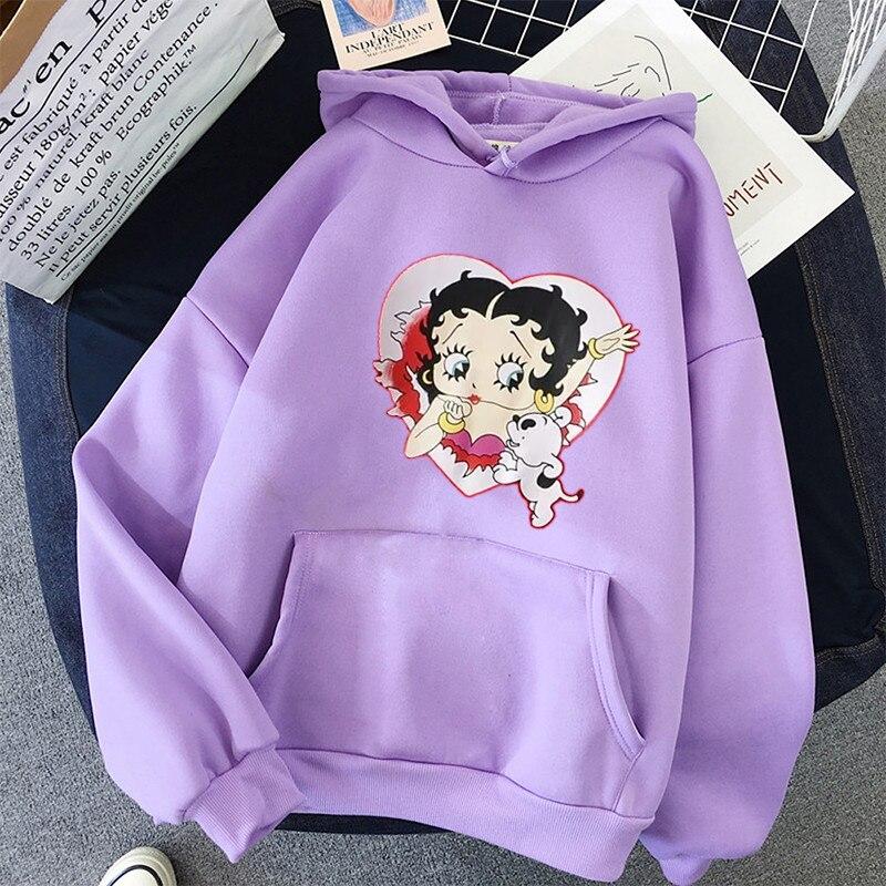 Plus Size sweatshirt Women Summer 2021 Spring Oversized Cute Print hoodie Cute Hip hop Kawaii Harajuku womens tops clothes 7