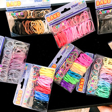 120pcs Mixed Size Elastic Children Girls Hair Rope Colorful Baby Rubber Bands Fashion Holders Tie Accessories