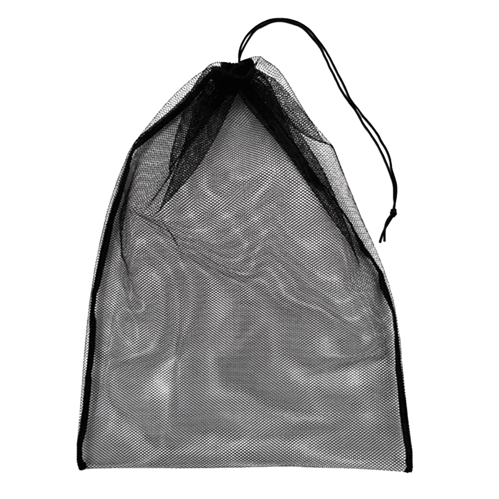 Large Strong Mesh Drawstring Bag For Storing Swim Scuba Dive Fins Mask Goggles