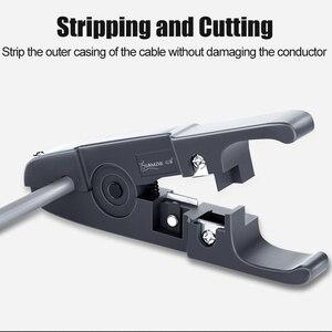 Image 2 - SAMZHE 와이어 스트리퍼 압축 도구 케이블 스트리퍼, 원형 케이블, 커터 및 플랫 케이블 스트리핑 도구
