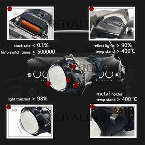 Image 2 - ROYALIN Metal For Hella 3R G5 Bi Xenon Headlights Lens D2S Lights Projector Universal Car Lamp D1S D2H D3S D4S Bulbs Retrofit