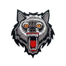 SMALL WOLF biker Patch Embroidered Applique Sewing Label punk Patches Clothes Stickers Apparel 3pcs/lot