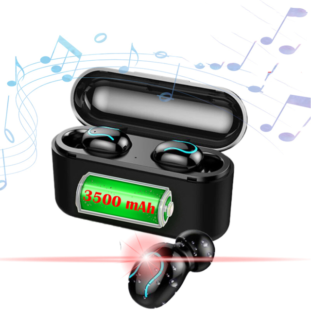 Draadloze Bluetooth headset q32s bijgewerkte versie Oordopjes Draadloze headset TWS sport Bluetooth 5.0 stereo headset met een gift