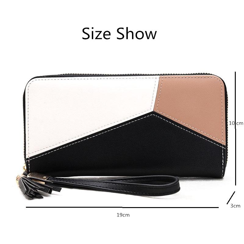 PU leather long wallet clutch for women