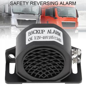 12V - 48V Black Back up Alarm Horn Speaker Reverse Accessories Auto Warning Waterproof fit for Motorcycle Car Vehicle