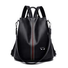 Women Backpack for School Style Leather Bag For College Simple Design Women Casual Daypacks mochila Female Famous Brands 2019 цена 2017