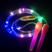 Cool children's luminous skipping rope Colorful LED lighting Three-speed lighting mode Indoor Boy gi