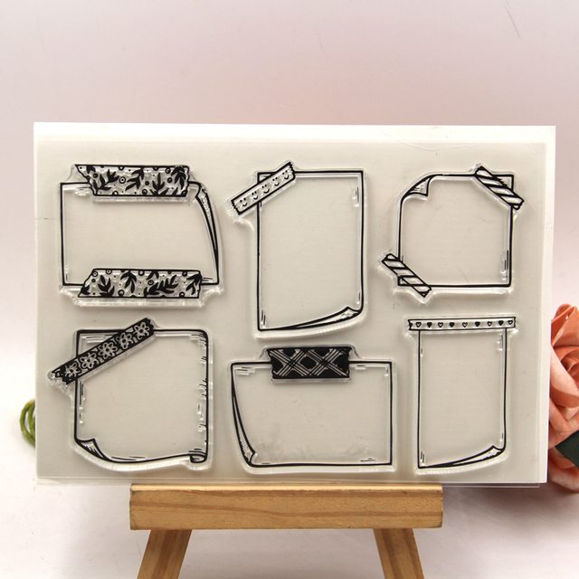 ZFPARTY Labels Transparent Clear Silicone Stamp/Seal for DIY scrapbooking/photo album Decorative clear stamp