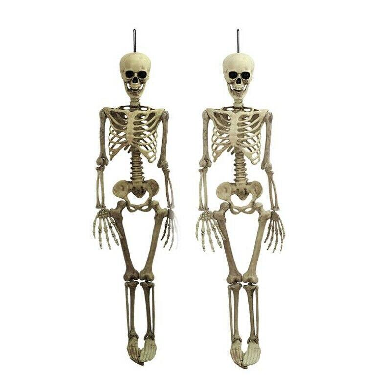 1 шт. Хэллоуин Опора человеческий скелет полный размер череп рука жизнь тело Анатомия Модель Декор 38x12 см