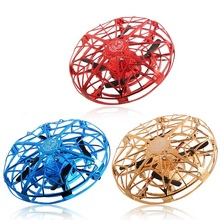 Anti-collision Flying UFO Helicopter Magic Hand UFO Flying Ball Aircraft Sensing Mini RC Dr