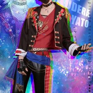 Хитман Реборн! Gokudera Hayato Косплей Костюм вонгола Idol певец Униформа Мужской сценический костюм/Вечеринка