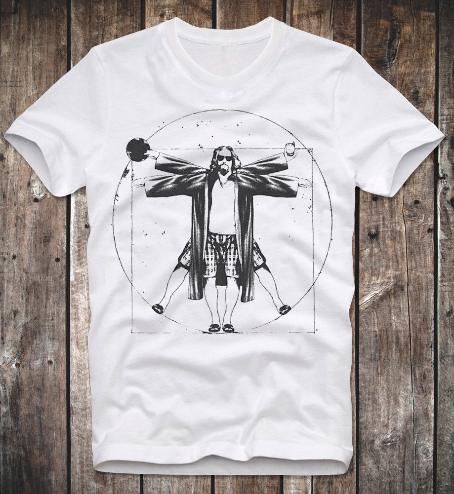 T Shirt The Big Lebowski The Dude Cult Movie Kultfilm Coen Brothers Da Vinci Man 2019 Brand Graphic Homme Cool Muscle Shirt image