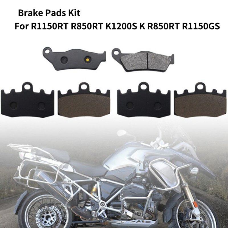Motorcycle Front & Rear Disc Brake Pads Kit for BMW R1150RT R850RT K1200S K R850RT R1150GS 2002 2004 Adventure HP2 Megamoto|Car Brake Pads & Shoes| |  - title=