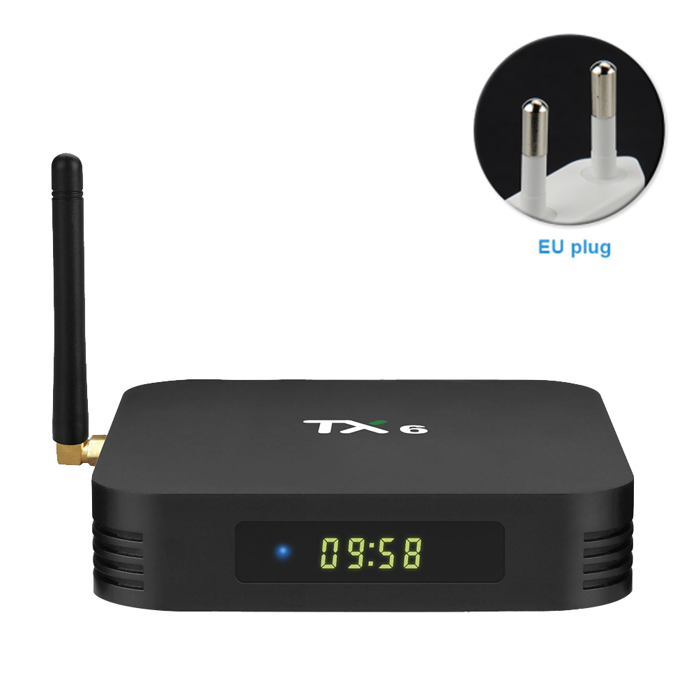 TX6 lecteur réseau Stable numérique haute définition maison avec télécommande film Audio Bluetooth facile installer TV Box Smart