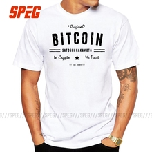 Bitcoin Original Satoshi Crypto Logo T Shirt Plus Size Print Short Sleeve T Shirt New High Quality Cotton Men Tee Shirts