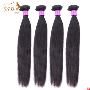 Image 1 - JSDShine 8 38 40 inch Brazilian Straight Hair Weave Bundles Natural Color 100% Human Hair weave 1/3/4 Piece Remy Hair Extensions