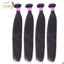 Jsdshine 8 38 40 Inch Braziliaanse Steil Haar Weave Bundels Natuurlijke Kleur 100% Menselijk Haar Weave 1/3 /4 Stuk Remy Hair Extensions