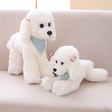 1pc 32cm Kawaii Soft Poodle Dog Plush Toys Cartoon Animal Teddy Gift Doll for Kids Children Cute Girl Birthday Present