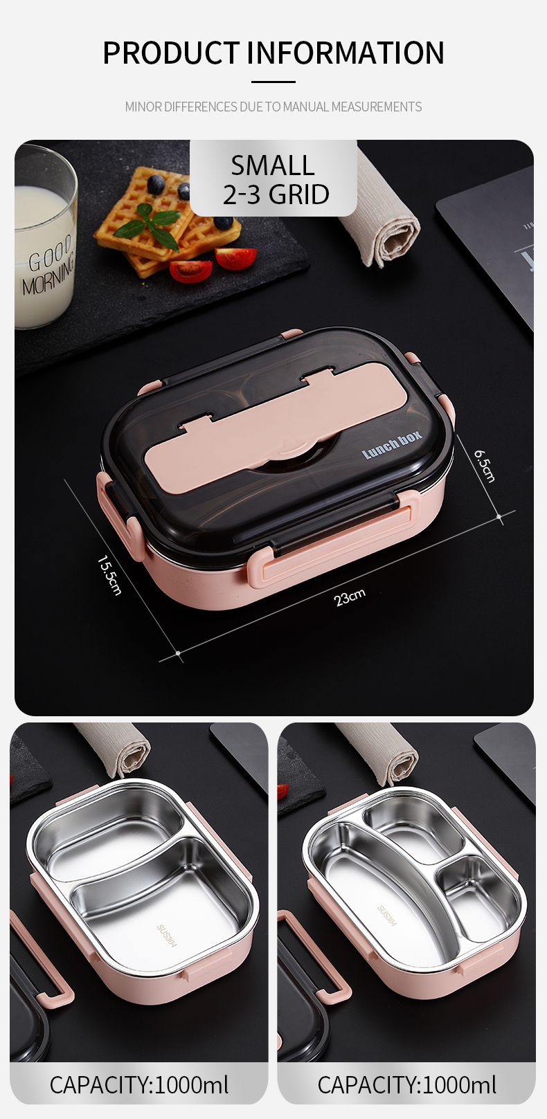H46d81cc9269f4fb59fd3f8b692447e7aV - WORTHBUY Japanese Kids Lunch Box 304 stainless steel Bento Lunch Box With Compartment Tableware Microwave Food Container Box