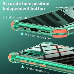 Image 4 - עמיד הלם סיליקון מקרה טלפון עבור Samsung Galaxy A50 A70 A51 A71 S20 FE S21 בתוספת S20 Ultra A32 A42 A52 a72 5G שקוף כיסוי